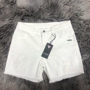 Guess   Girls White Denim Shorts   Size 14